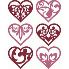 hearts silhouette 6 damask flourish hearts silhouette design flourish and silhouettes