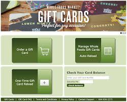 whole food gift card balance check