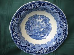 Blue And White China Pattern Best Staffordshire Blue And White Transferware Bowl Masons Pattern