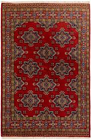 persian turkoman 4 10 x 7 1 hand knotted rug in red