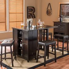baxton studio aurora piece dark brown modern pub table set with