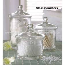 china s 3 clear glass bath stuff canisters high transparency electric furnace quality