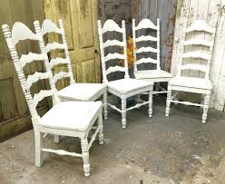 Chairs Wooden Ladder Back Chairs Chair Dining White Shabby Chic