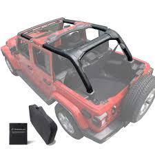 Shadeidea Jeep Wrangler Roll Bar Padding Jl Unlimited 4 Door Black Vinyl Foam Laminated Pad Cover Kit Protection For 2018 2019 Jlu Sahara Rubicon