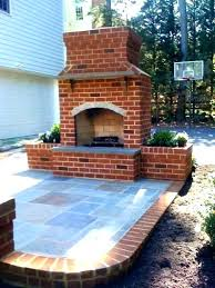 outdoor brick fireplace building plans an red kits free decor average cost to build outdoor brick fireplace