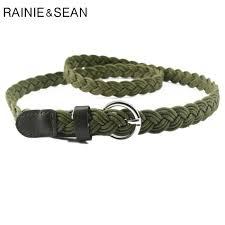 <b>RAINIE SEAN</b> Braided Belt For <b>Women</b> Army Green Waist Belt ...