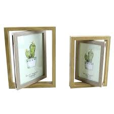 double sided picture frames household creative wooden rotating photo frame ornaments glass desktop craft home decor double sided picture frames