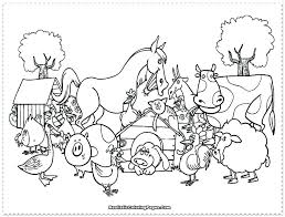 Farm Animal Coloring Sheets For Preschool Colouring Pages