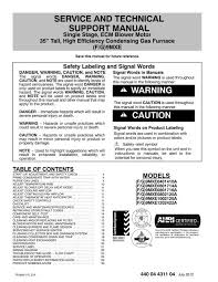 Troubleshooting Gas Furnace Chart F9mxe 96 Gas Single Stage High Efficiency Furnace Technical