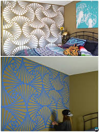 DIY Geometric Ombre Wall Painting Instruction Ideas Techniques Tutorials  Patterned and Picture