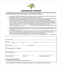 Letter Of Intent For University Cool 48 National Letter Of Intent Templates Sample Templates