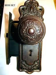 Antique Door Knob Knobs Brass Crystal Sets Hardware Spindle
