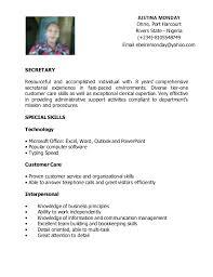 resume for secretary thebridgesummitco - Executive Secretary Resume Sample