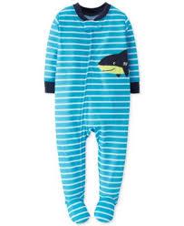 carter s toddler boys piece tee plaid shorts kids macy s carter s toddler boys footed shark pajamas