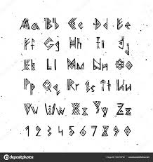 Staroseverského Skandinávské Písmo Runové Abecedy Dopisy Styl