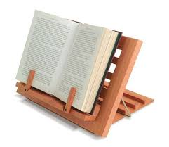 wooden reading rest adjule book holder display stand wood cook kitchen