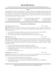 Beautiful Chef Resume Examples Free Career Resume Template