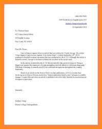Formal Letter Latest Format Letters To Editor Example Formal Letter To Editor Format