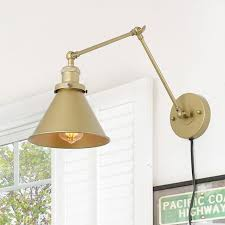 transitional swing arm wall lamp