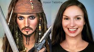 jack sparrow makeup transformation cosplay tutorial
