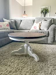 diy pedestal round coffee table
