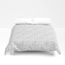 spotty dotty in black and white duvet cover