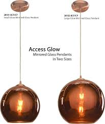 access 28101 28102 glow mirrored glass pendants in two sizes