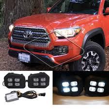 2019 Toyota Tacoma Led Fog Lights Details About Drl Led Fog Lamps Fit 2016 2018 Toyota Tacoma Single Light Clear Fog Lights