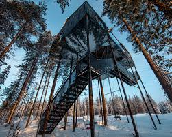 invisible tree house hotel. Sleep Among The Treetops In Snøhetta\u0027s Floating Cabin Sweden Invisible Tree House Hotel