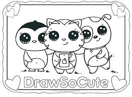 Kawaii Food Coloring Pages Cute Also Doodle Brilliant Cat Fat Images