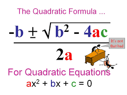 ms mccullough 39 s math class the quadratic formula