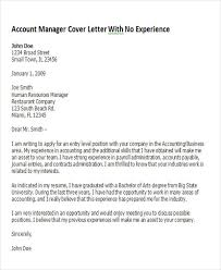 8 Account Manager Cover Letters Sample Templates