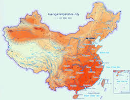 China Weather Chart Climate Map Of China China Climate Map Annual Temperature