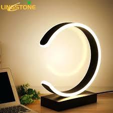 Modern Table Lamps Led Table Lamp Modern Desk Lamp Black Book Reading Light  Button Switch Bedroom