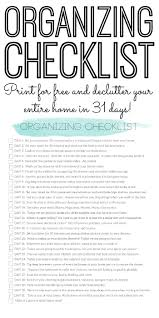 print this organizing checklist to declutter your home in just 31 days