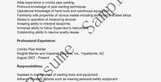 Combo Welder Sample Resume Construction Accountant Sample Resume