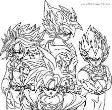 Coloring Pages Of Dragon Ball Z Characters Trustbanksurinamecom