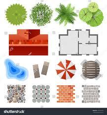 How To Make A Landscape Design Plan Highly Detailed Landscape Design Elements Easy Stock Vector