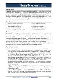 Profile For Cv Example Under Fontanacountryinn Com