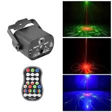 Laser Light Projector Us 18 69 41 Off 60 Patterns Rgb Led Laser Lights Projector Stage Light Portable Effect Lamp Music For Christmas Party Disco Indoor Light In Stage