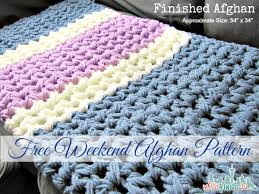 Easy Crochet Afghan Patterns Enchanting Trendy Crochet Blanket Patterns Free Easy Easy Weekend Crochet