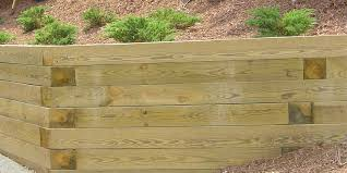 wood retaining walls are attractive and affordable