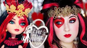 lizzie hearts ever after high makeup tutorial at first i thought it was