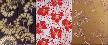 Small Picture flowerpress vintage block print wallpaper