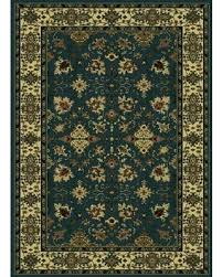 Threadbind Dano Dark GreenTan Area Rug THBD1306 Size 5u00275