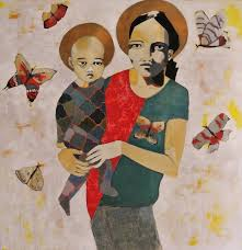 mother and child Painting by josie gallagher | Saatchi Art