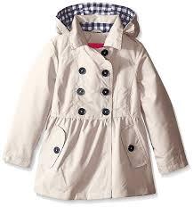 london fog big girls khaki brushed poly trench coat size 7 8 10 12 14 16