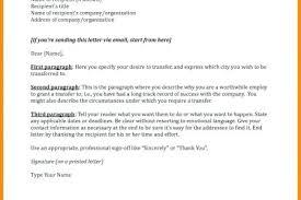 Transfer Letter Format For Bank Employee Employee Transfer Letter