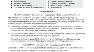 Housekeeping Resume Examples Amazing Housekeeper Resume Objective Universitypress