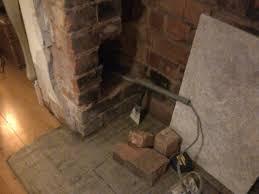 cap an old fireplace gas pipe work job in bromsgrove